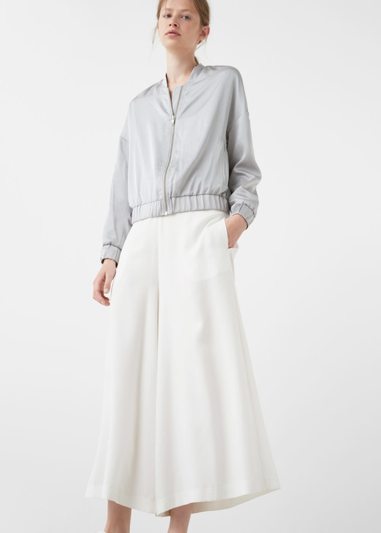 Silk fall jacket