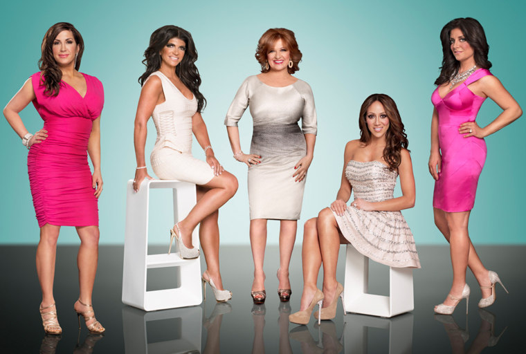 """""""Real Housewives of New Jersey"""" cast poses together for a photo"""