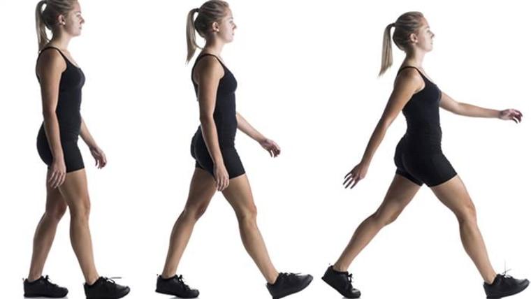 The way we walk determines how many calories we burn.
