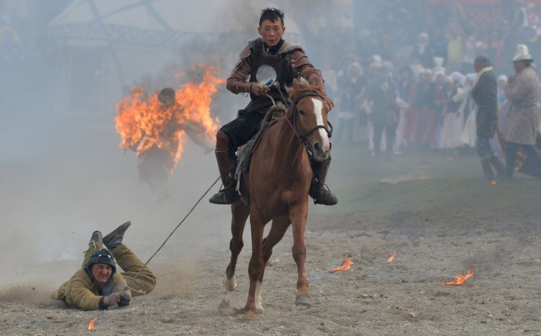 Image: TOPSHOT-KYRGYZSTAN-NOMAD-GAMES