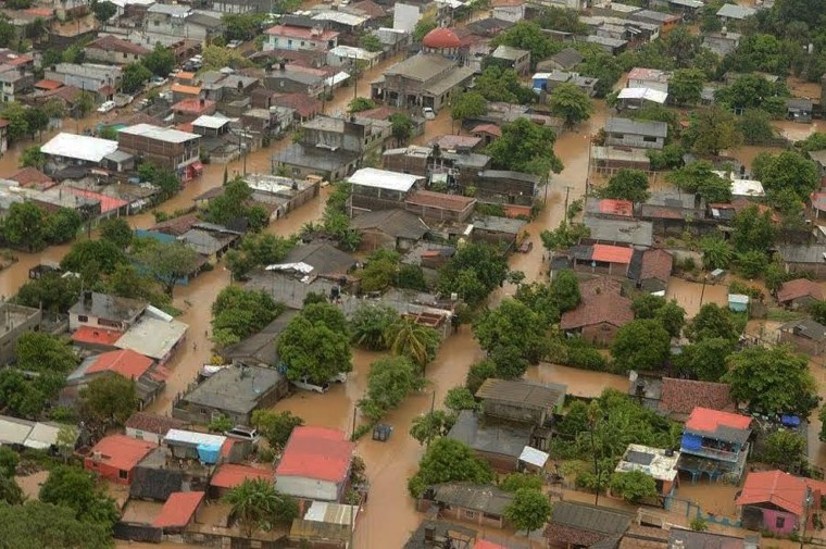 Image: Hurricane Newton causes floods in Mexico
