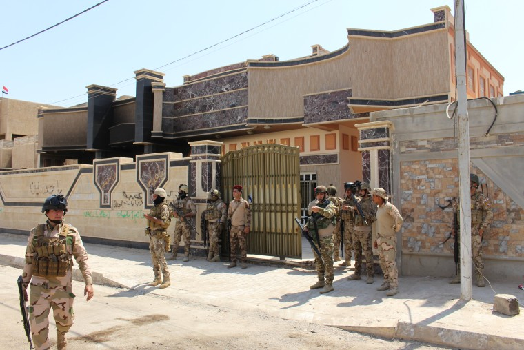 Image: Outside ISIS' makeshift courthouse