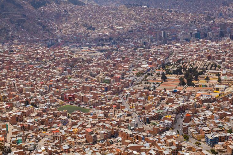 View of the La Paz, Bolivia cityscape