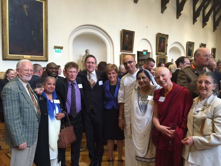 St. Giles Cathedral, Edinburgh, Scotland. May 11, 2016. Sharan and members of the Edinburgh Inter Faith Association meet with First Minister Nicola Sturgeon for the blessing of new members of the Scottish Parliament.