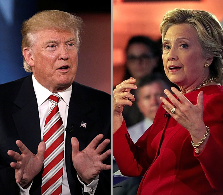 Presidential candidates Donald Trump and Hillary Clinton speak at the Commander-in-Chief Forum.