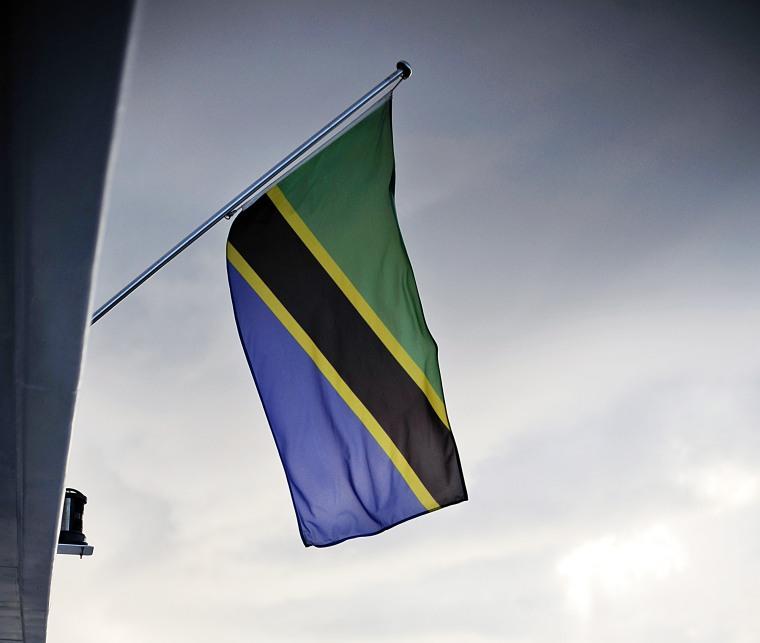 The flag of the United Republic of Tanzania.