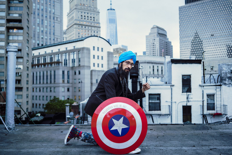 """Bit by mosquito / plasmodium made me hot / and now sexy too?"" - ""Sikh Captain America"" Vishavjit Singh"
