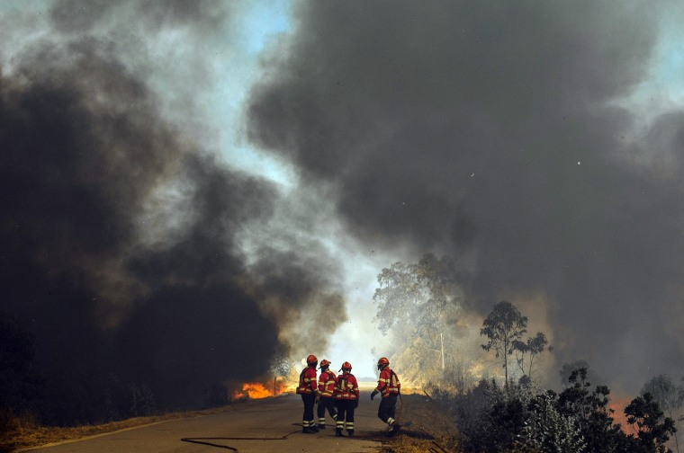 Image: Forest fire in Serra de Monchique