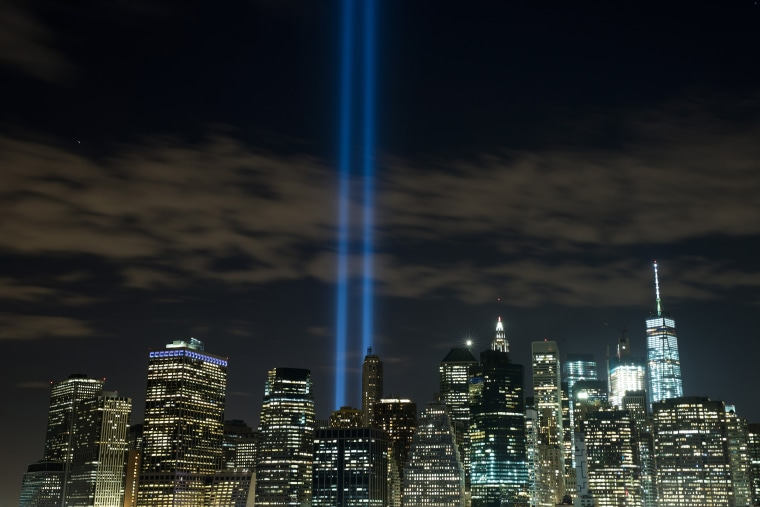 Image: BESTPIX New York City's Tribute In Light Honors Sept. 11th Attack Anniversary