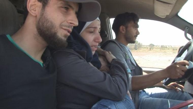IMAGE: Louiai (left) and Samar Barakat (center)