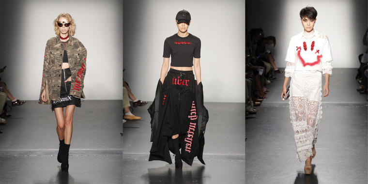 Selections from the Yohanix line at the Concept Korea show at New York Fashion Week.