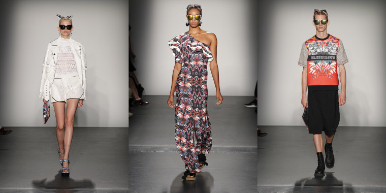 A selection from Greedilous by Younhee Park shown at New York Fashion Week.