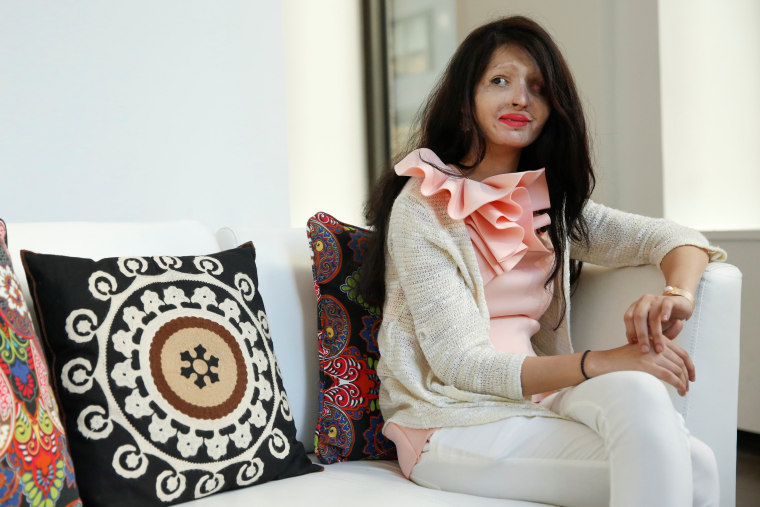 Image: Indian model Reshma Quereshi, 19, sits during an interview in Manhattan, New York