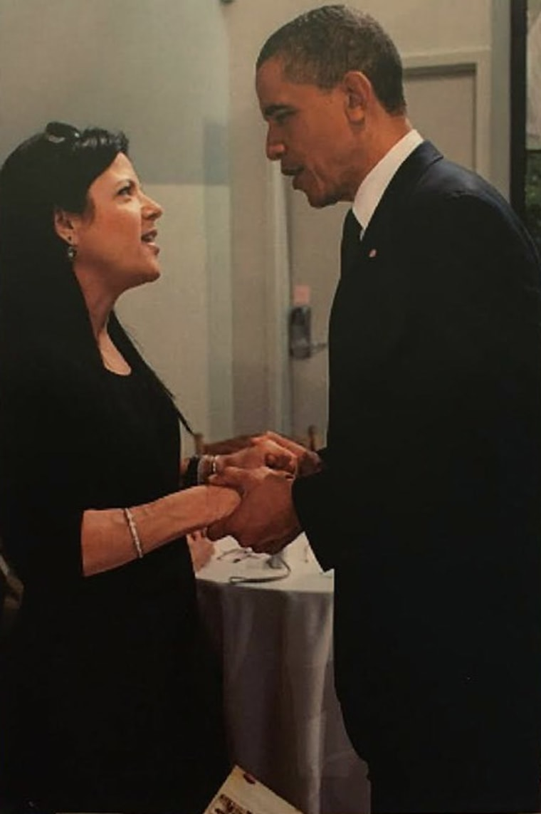 Lisa Paterson meets with President Barack Obama in May of 2011.