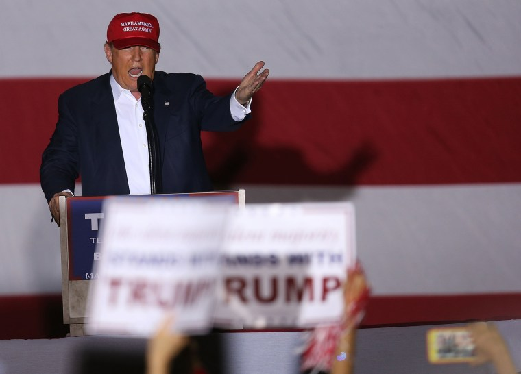 Image: GOP Candidate For President Donald Trump Holds Rally In Boca Raton, Florida