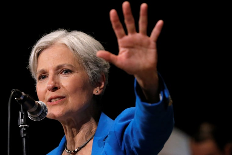 Image: Green Party presidential candidate Jill Stein speaks at a campaign rally in Chicago