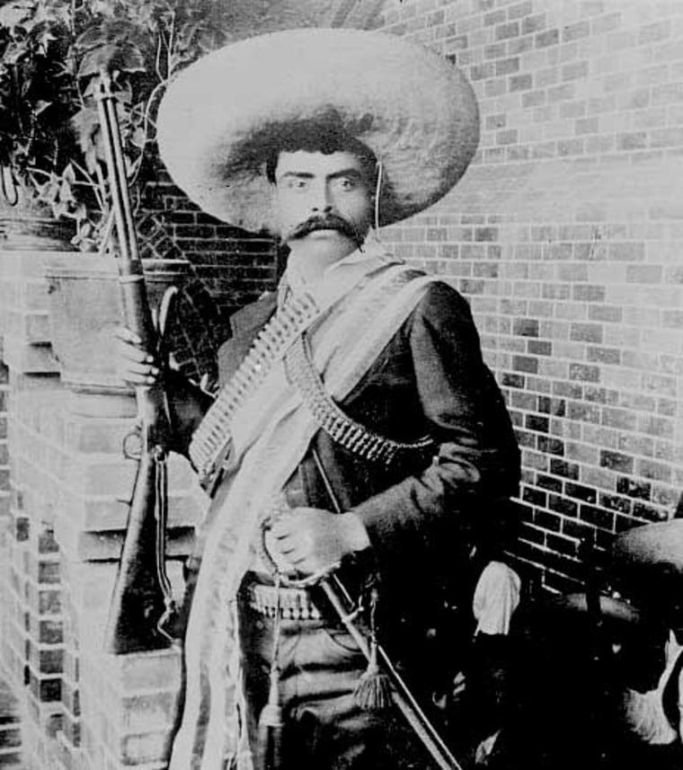 Photo shows Emiliano Zapata Salazar (1879-1919), leader of the Mexican Revolution (1910-1920).