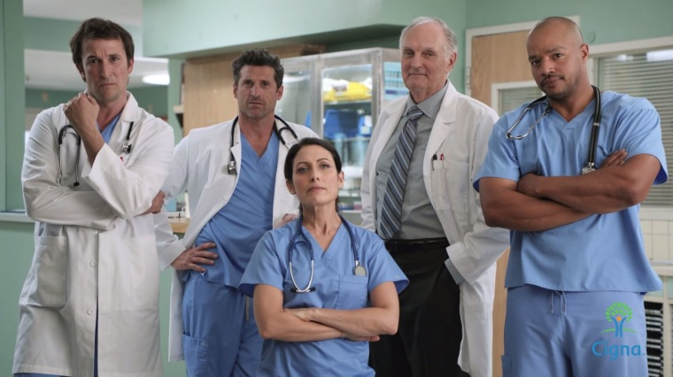 "Cigna's ""TV Doctors of America"" ad."