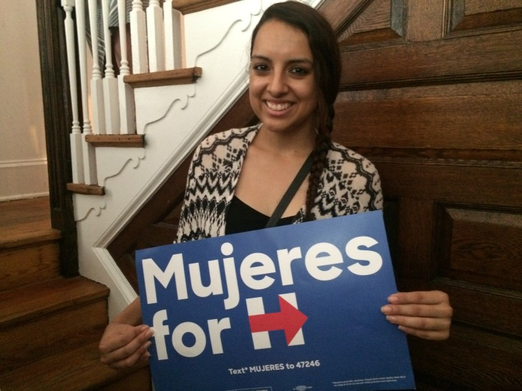 Elsie Guerrero attended a Mujeres in Politics brunch for the Hillary Clinton campaign on Sept. 10, 2016.