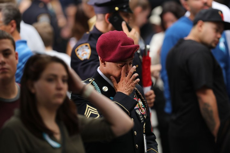 Image: 15th Anniversary Of 9/11 Attacks Commemorated At World Trade Center Memorial Site