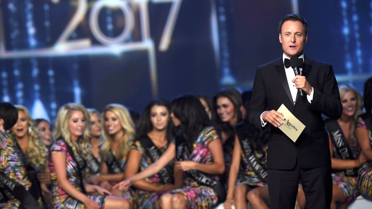 Chris Harrison hosts the 96th Miss America Pageant at Boardwalk Hall in Atlantic City, New Jersey