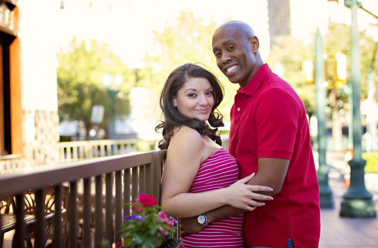 Stephanie with her husband Taurean