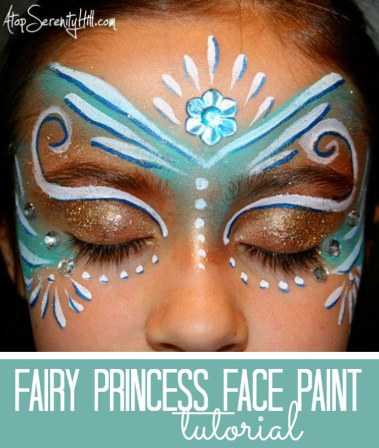 Face paint fairy makeup