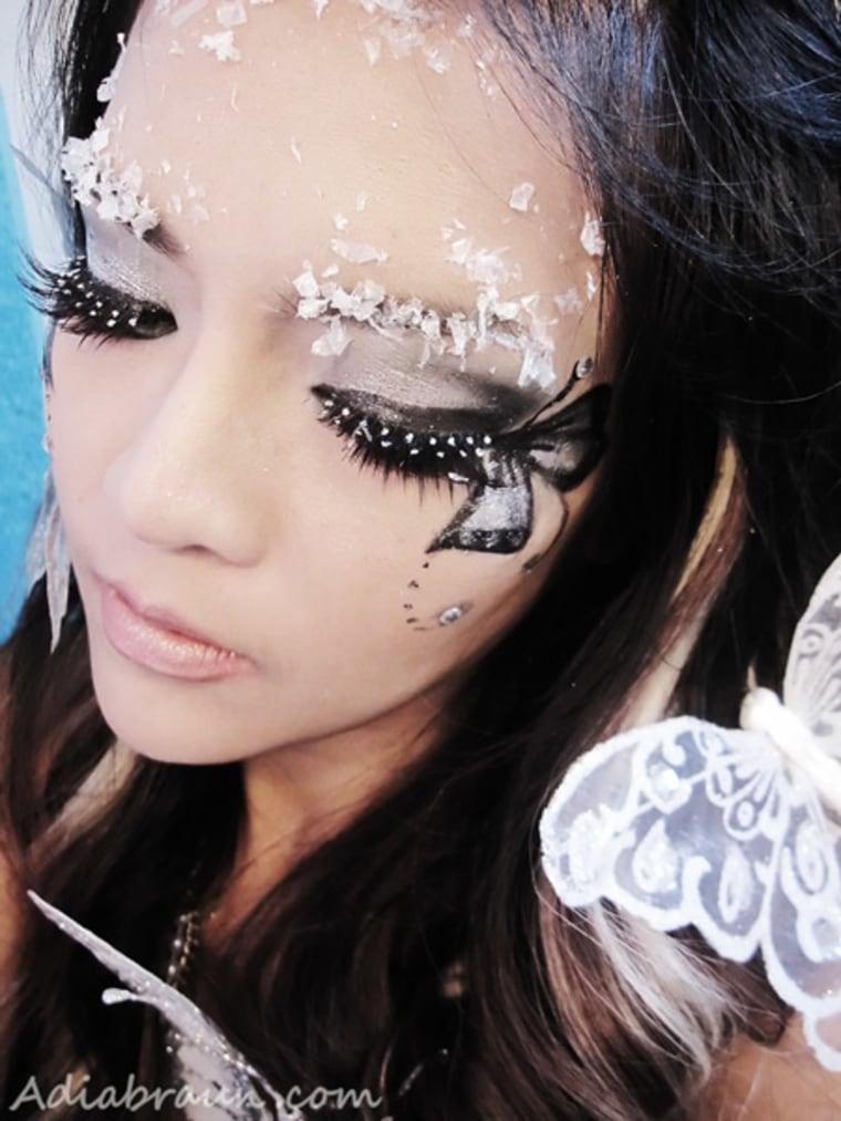 Glitter fairy makeup