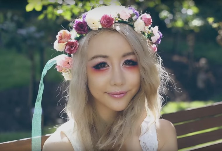 Floral fairy makeup