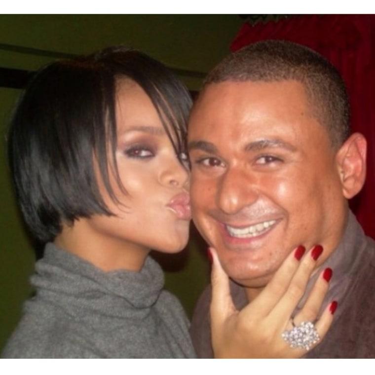 Angel Morales and Rihanna