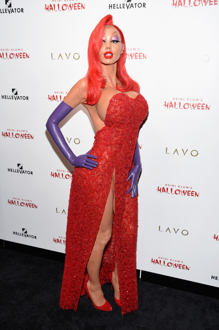 Heidi Klum Halloween Costumes Jessica Rabbit Kali And More