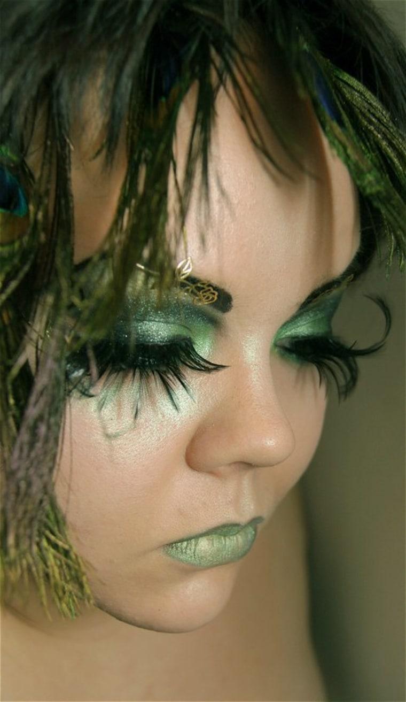 Green fairy makeup