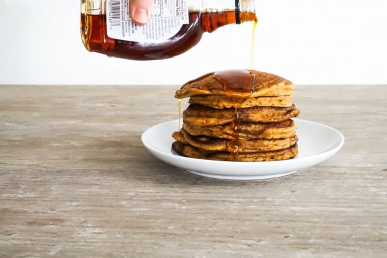 Brown butter whole wheat pumpkin pancakes