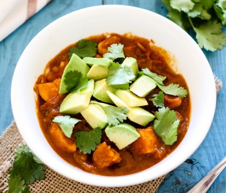 Vegan Sweet Potato Black Bean Pumpkin Chili