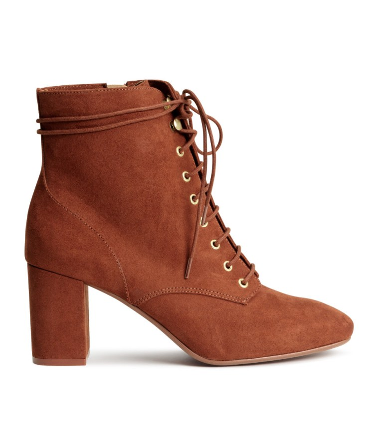 H&M suede lace-up ankle boots