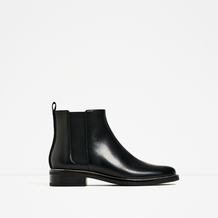 Zara patent leather ankle boots