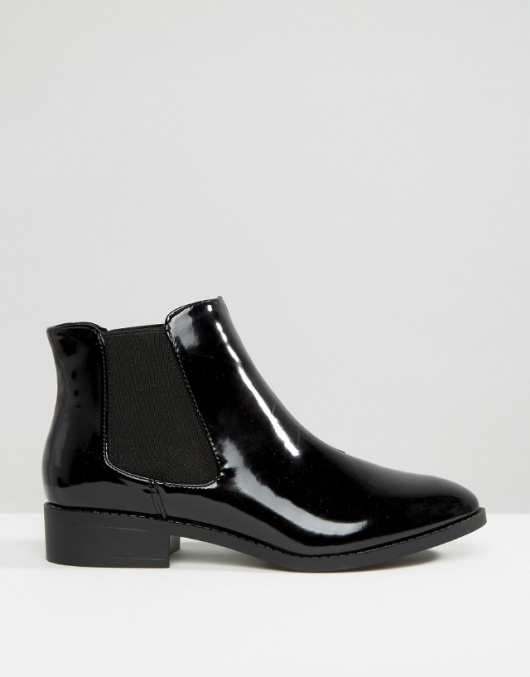 River Island patent leather Chelsea boots