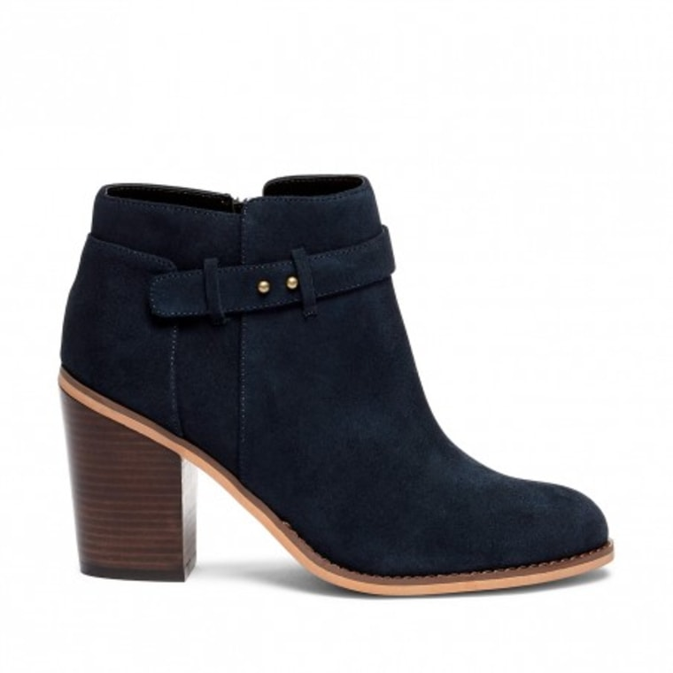 Sole Society heeled suede ankle boots