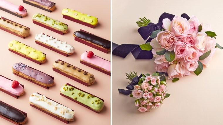 Eclairs / Flower Bouquet