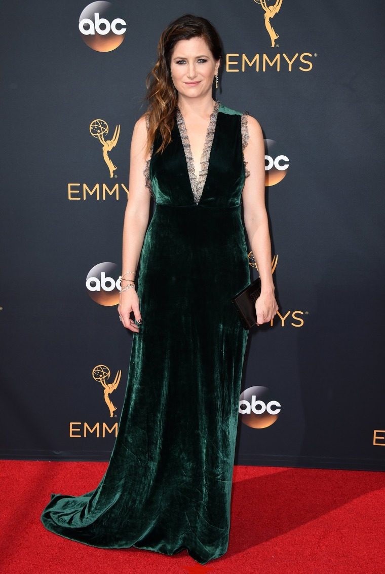 Kathryn Hahn Emmys red carpet 2016