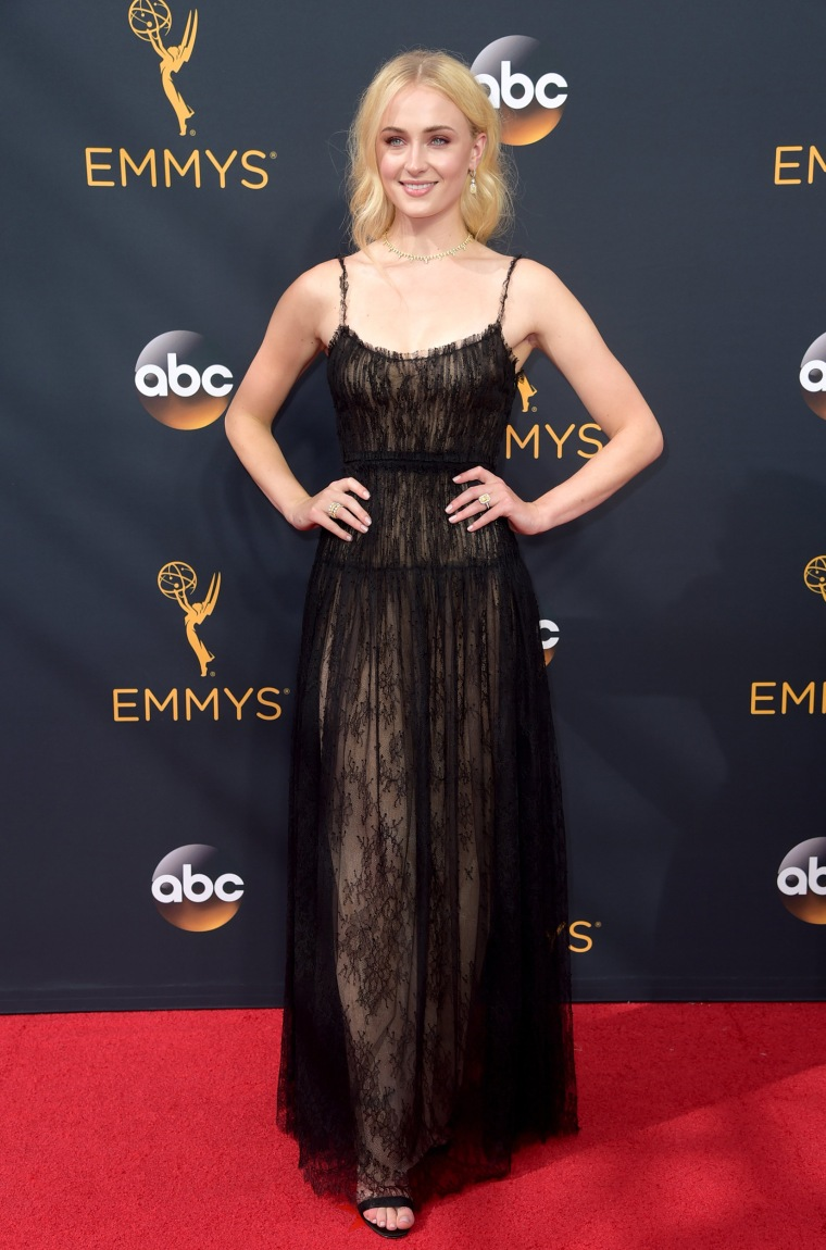 Sophie Turner Emmys 2016 red carpet