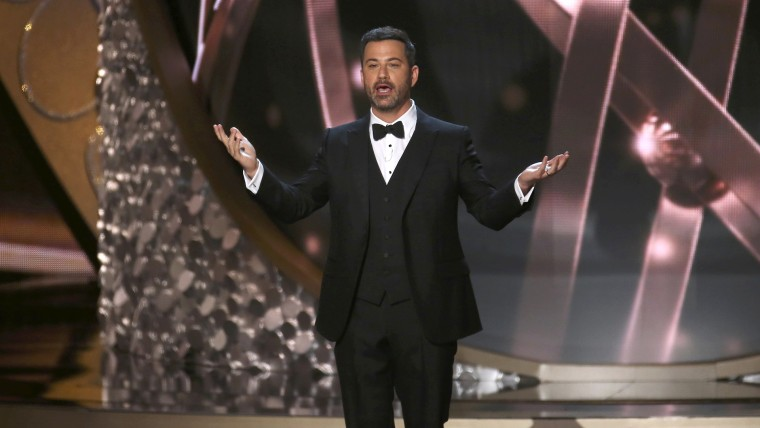 Image: Host Jimmy Kimmel opens the show during the 68th Primetime Emmy Awards in Los Angeles