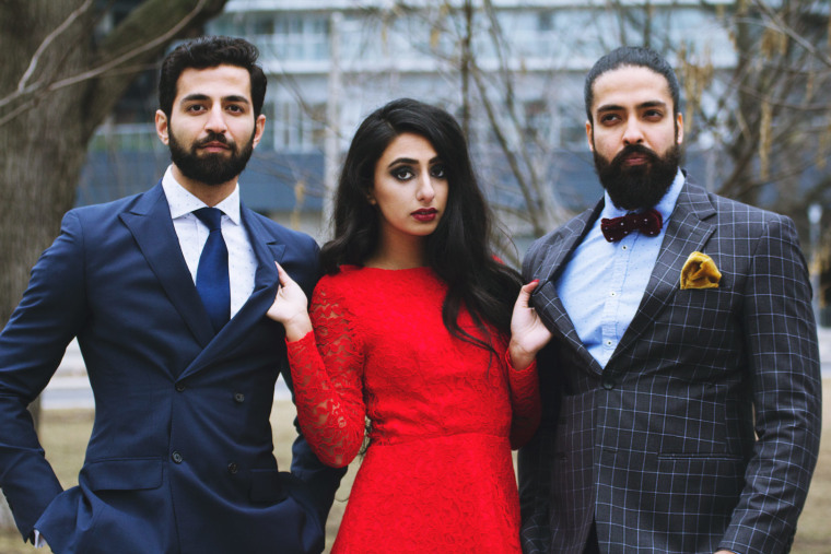 Kiran Rai (center) plays the lead character of Anarkali, pictured here with her two love interests in the show, played by Seth Mohan and Gavan Anand.