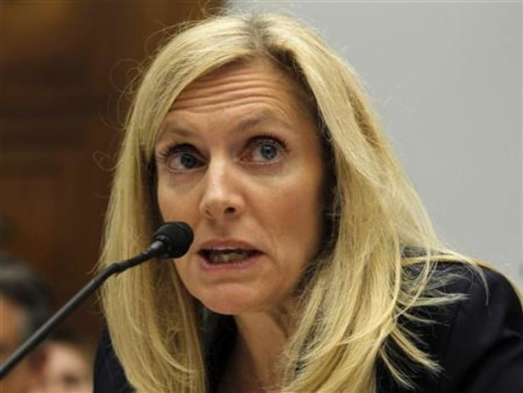Treasury Undersecretary for International Affairs Lael Brainard testifies at a House Financial Services Committee hearing on financial regulatory reform on Capitol Hill in Washington