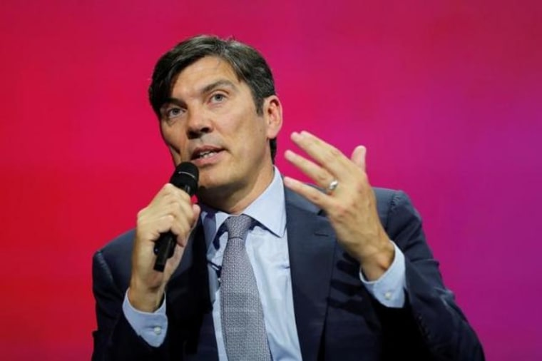 AOL Inc Chief Executive Tim Armstrong speaks at the Viva Technology event in Paris