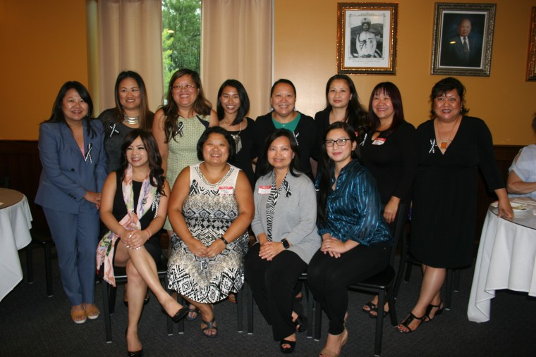 The executive committee and founding members of Maiv PAC. Top from left: Thao Mee Xiong, KaYing Thao, Kao Ly Illean Her, Julie Vang, Bo Thao Urabe, Pa Chua Vang, Kazoua Yang and KaYing Yang. Bottom from left: Susan Vue, Terri Thao, Maychy Vue, Pang Foua Xiong