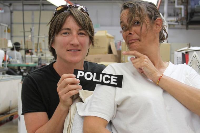 The IF Project's Detective Kim Bogucki with Renata Abramson.