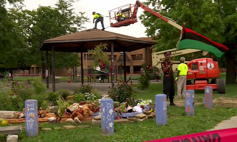 The gazebo where 12-year-old Tamir Rice was shot and killed by a Cleveland police officer is being dismantled starting Wednesday and shipped to a Chicago museum for display.