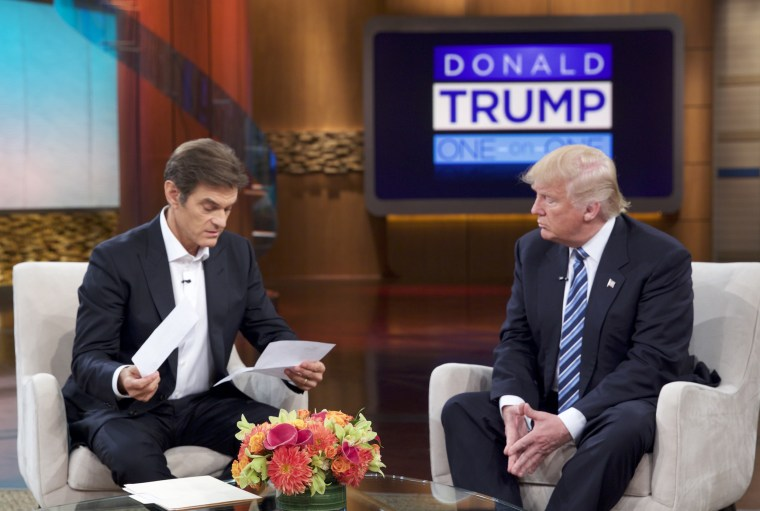 Image: Donald Trump sat down for an interview on The Dr. Oz Show