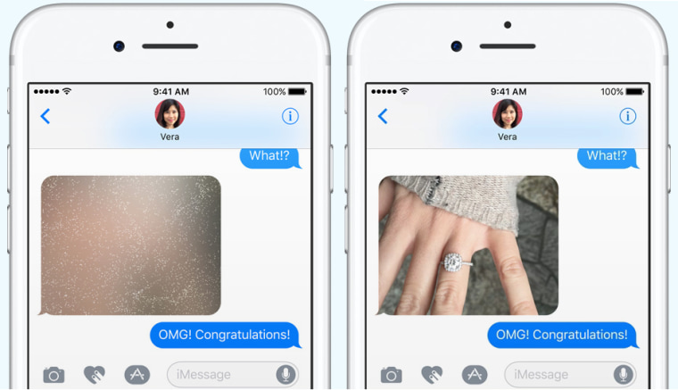 Image: Invisible ink is a new iMessages feature in iOS 10